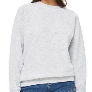 Topshop Crewneck Sweatshirt Grey Melange sz. 4 US